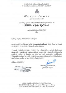 Certifikáty Zubár-Pro